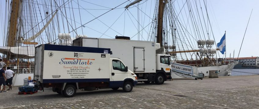 "Provisions ""A.R.A. Libertad"" at Ferrol Port"